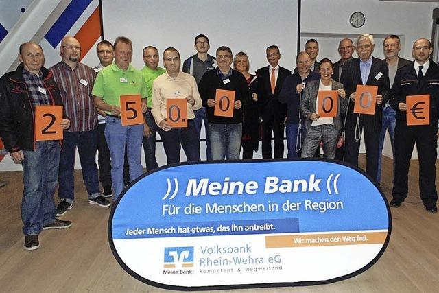 30 000 Euro für 20 Vereine