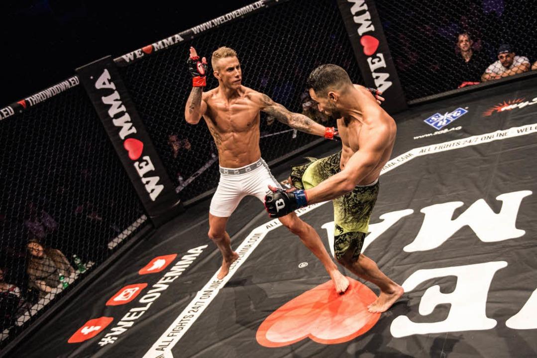 Es gebe keine Falschheit in einem MMA-Kampf, sagt Björn Schneckenburger.  | Foto: Nazariy Kryvosheyev COPYRIGHT