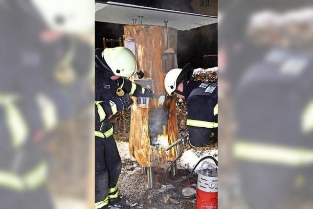Bücherbaum brennt