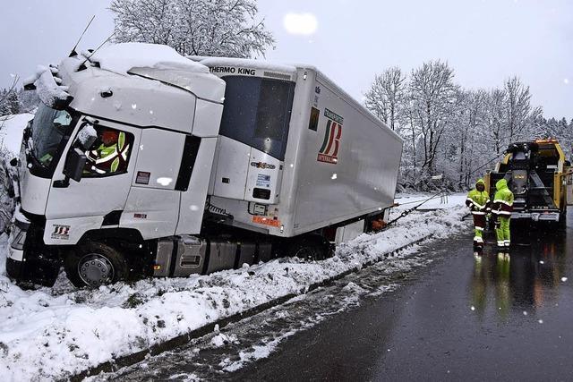 Kakao-Laster landet im Schnee