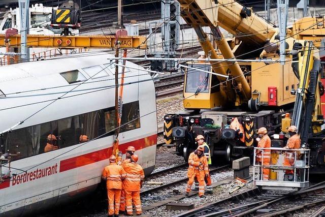ICE in Basel entgleist: Bergung schränkt Zugverkehr ein