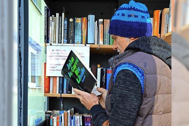 Bücherzelle bietet Auswahl