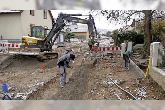 Nächste Baustelle im Winzerdorf