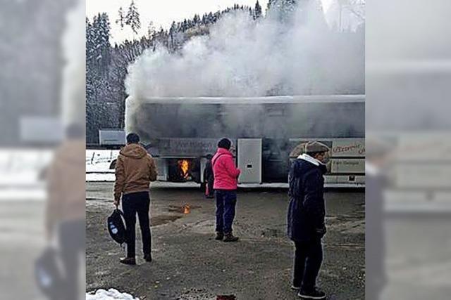Eis, Schnee und ein Feuer