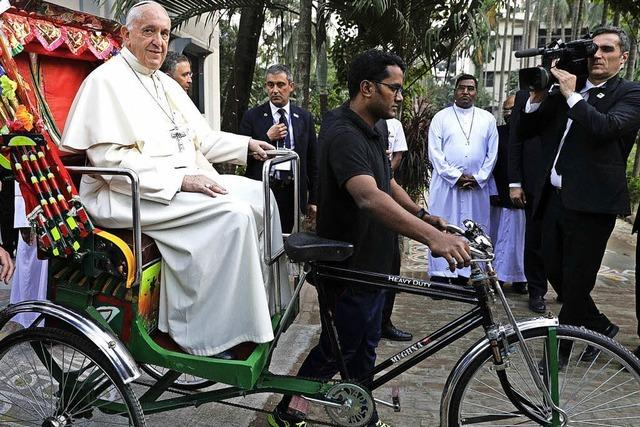 Papst reist zu Rohingyas in Bangladesch