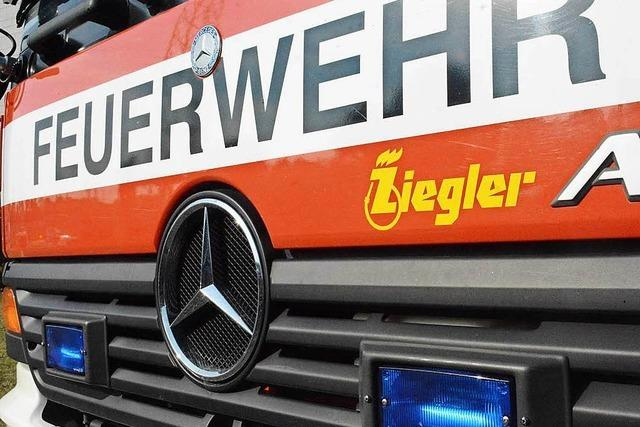 Brand in Geschäft am Lörracher Bahnhofsplatz