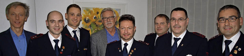 Bürgermeister Michael Wilke, Hauptlösc...er Abteilungsversammlung in Hauingen.   | Foto: Paul Schleer
