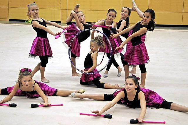 Gymnastinnen bieten tolle Show