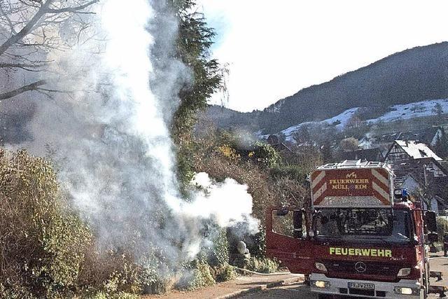 Feuerwehr kann Schlimmeres verhindern