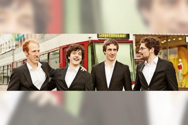 Die A-cappella-Formation Das Herrengedeck konzertiert im Bürgersaal Horben