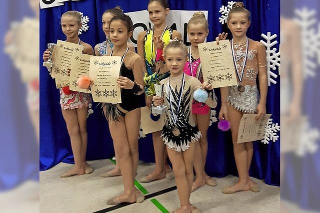 Gymnastinnen gut platziert