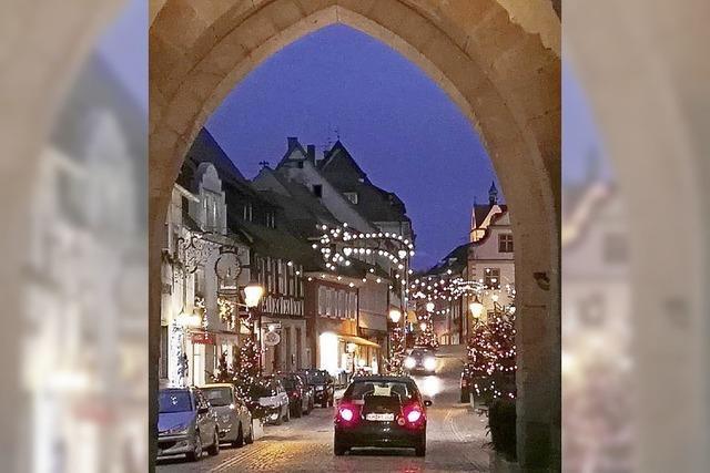 Weihnachtsdorf in der Innenstadt