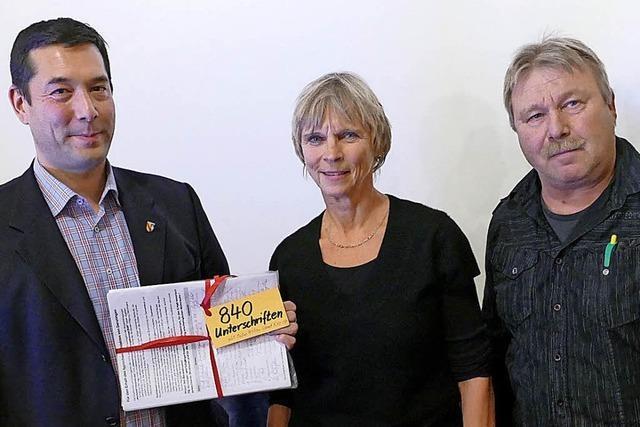 840 Unterschriften gegen die Baupolitik