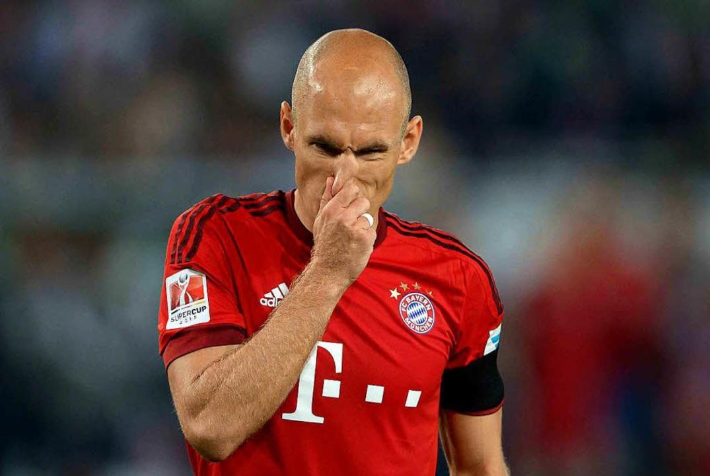 Spezialist für hautenge Trikots: Arjen Robben    Foto: dpa