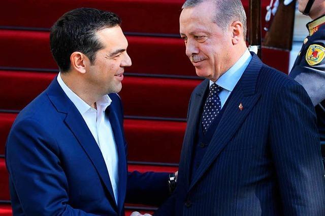 Griechenlandbesuch Erdogans beginnt mit Irritationen