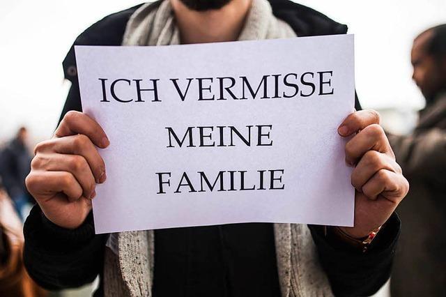 Mahnwache für Familiennachzug in Elzach