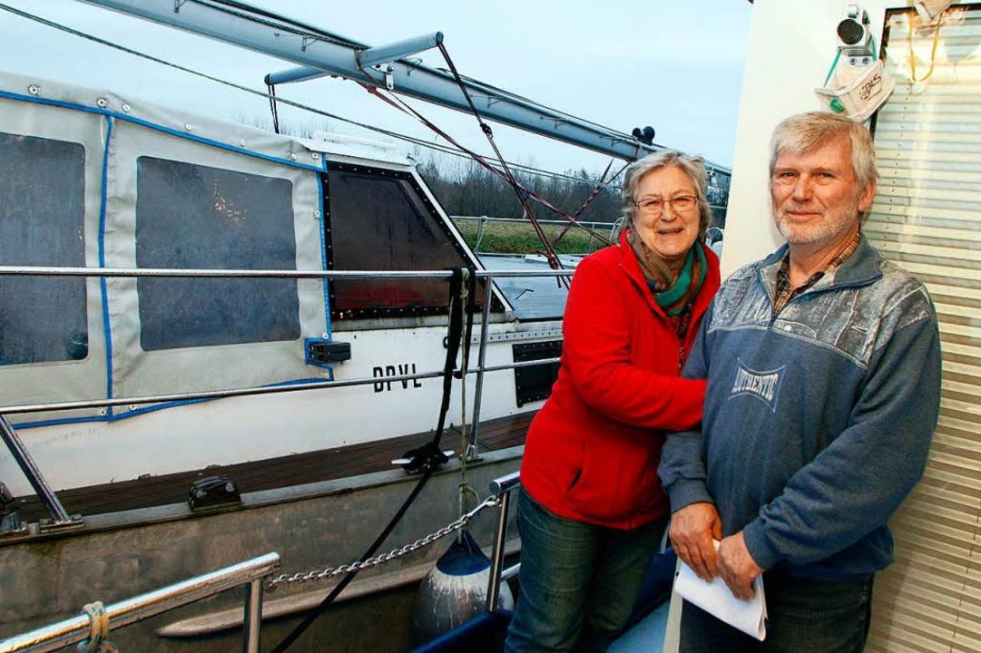 Nonnenweier Weltumseglerpaar Solka im Yachthafen  | Foto: Heidi Foessel