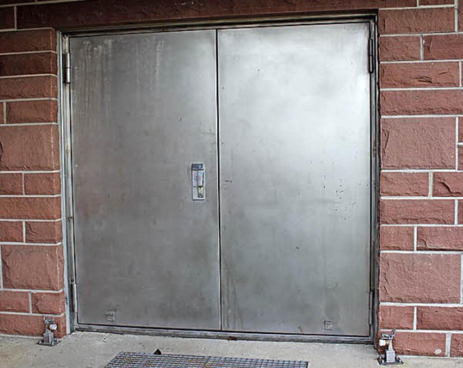 Die Tür zur Aufbereitungsanlage  | Foto: Mario Schöneberg