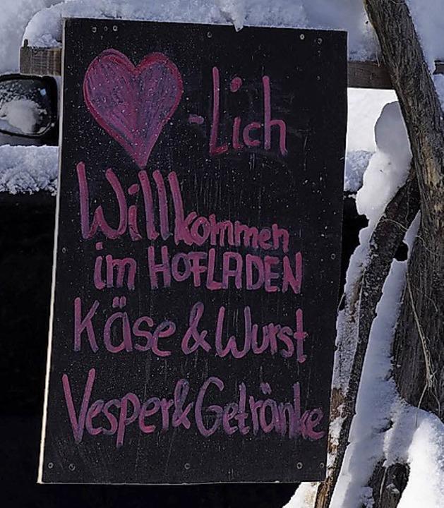 Auch Vesper gibt es im Hofladen.  | Foto: Susanne Gilg