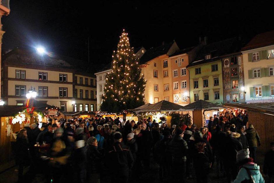 Auf dem Bad Säckinger Weihnachtsmarkt gab es viel zu entdecken. (Foto: Hildegard Siebold)