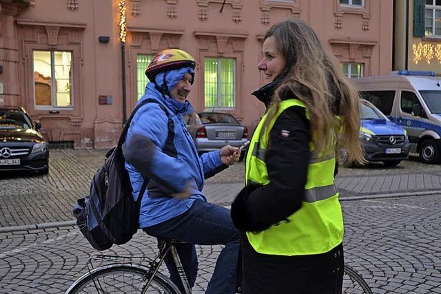 Schokoherzen für Fahrradfahrer – aber nur mit Licht