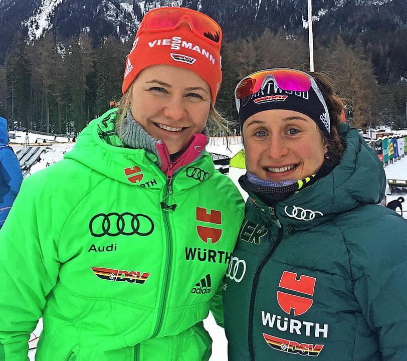 Annika Knoll (links) und Christin Maie...en und kamen auf die Ränge 24 und 18.   | Foto: ZVG