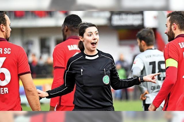 Resolute Schiedsrichterin in der Oberliga