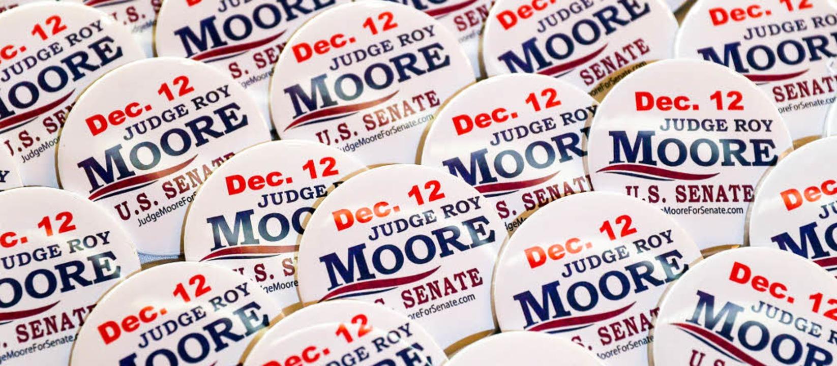 Die Wahlkampagne für den umstrittenen ...ikaner Roy Moore läuft auf Hochtouren.  | Foto: AFP