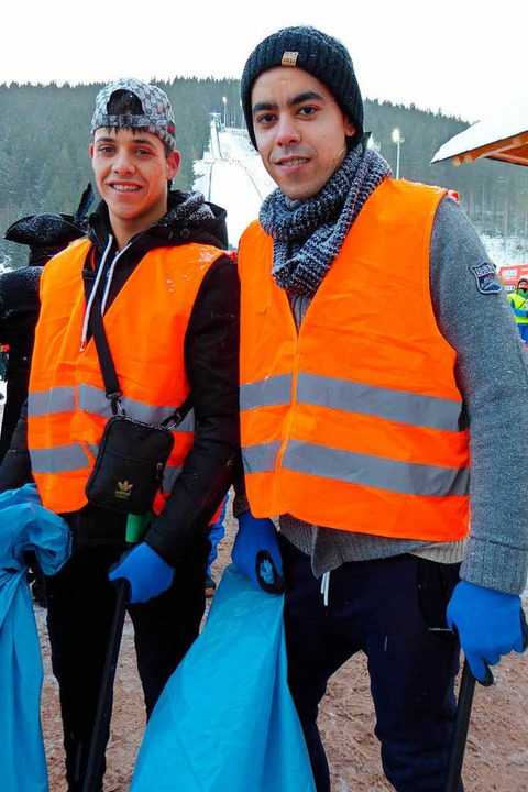 Mohamed (rechts) und Lrazwan    Foto: Peter Stellmach