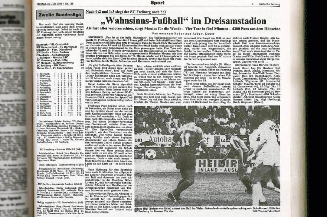 """""""Wahnsinns-Fußball"""" im Dre...n der Montagsausgabe am 25. Juli 1988.    Foto: BZ-Archiv"""