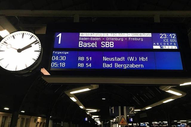 Verspätungen im Bahnverkehr – Mitarbeiterin forderte Polizeischutz