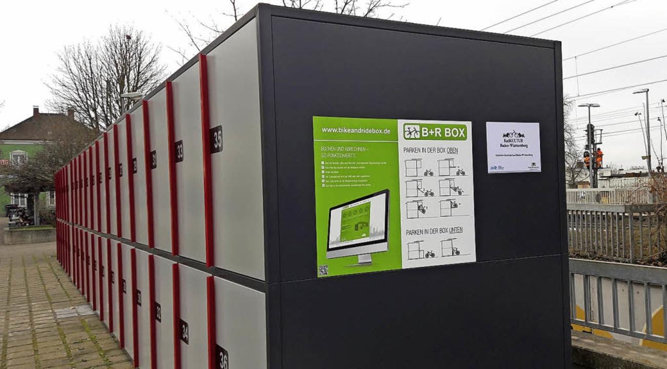 Sichere Aufbewahrung für die Drahtesel...e Verkehrsmittel schmackhafter machen.  | Foto: Stadt Müllheim