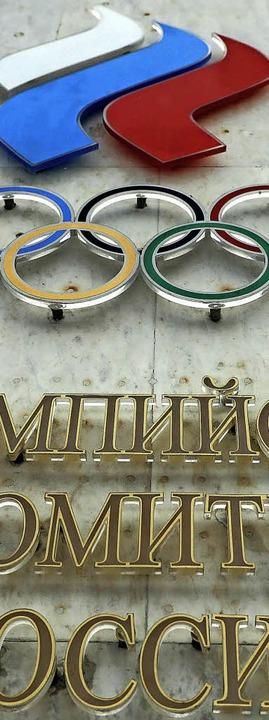 Das Nationale Olympische Komitee Russl...mpia-Teilnahme unter neutraler Flagge.    Foto: dpa