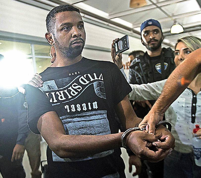 Rogério da Silva nach seiner Festnahme   | Foto: AFP
