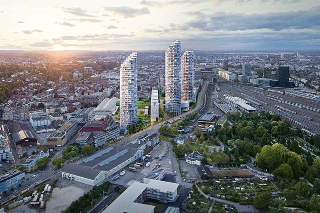 In Basel sollen bis zu 160 Meter hohe Wohntürme entstehen