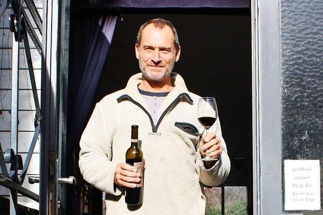 Heiko Feser betreibt in Gundelfingen eine Weinerei