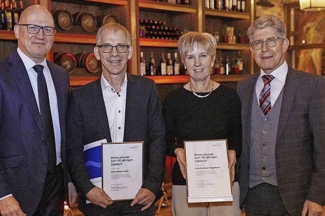 Markus Kaufmann ehrt Jubilare