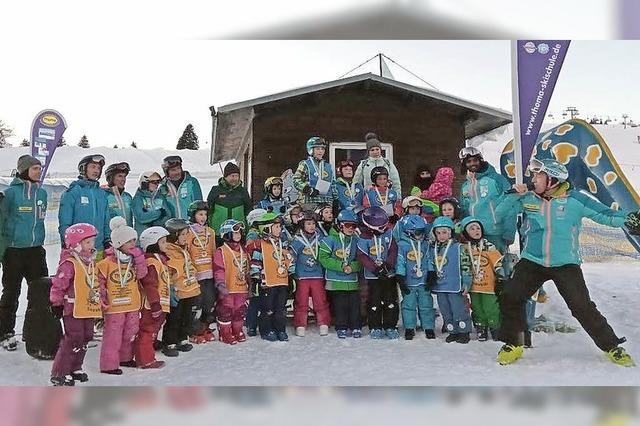 37 Kinder aus drei Skiclubs