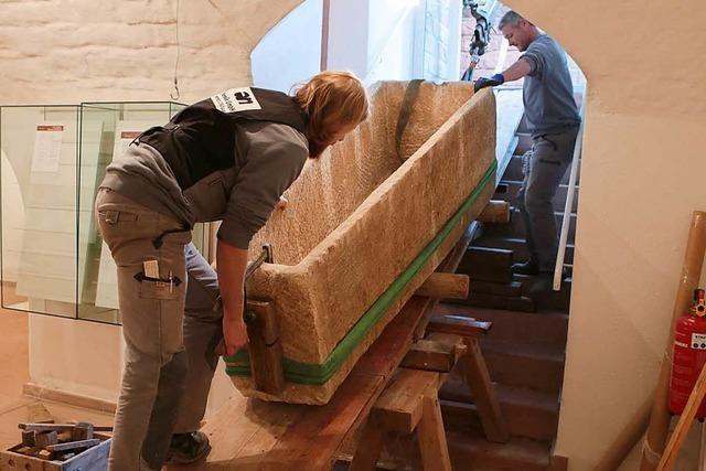 Sarkophag zieht ins neue Museum in der Tonofenfabrik