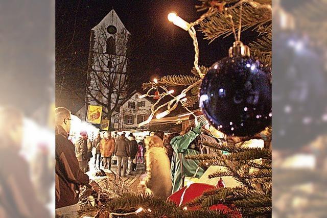 Weihnachtsmarkt mit mehr als 50 Teilnehmern