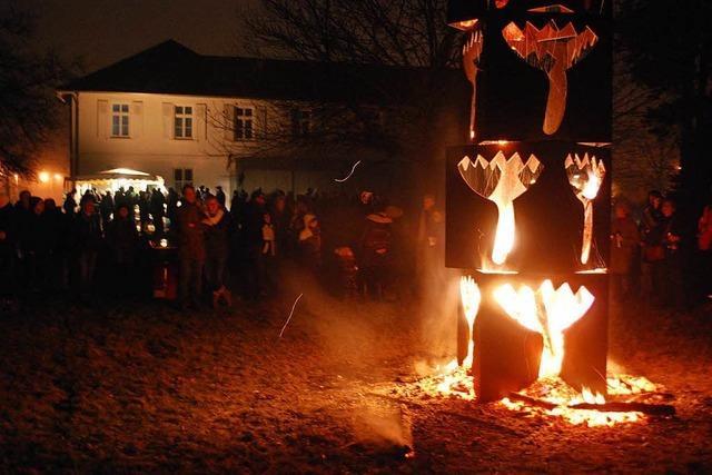 Der Lörracher Feuertulpenturm wird wieder brennen