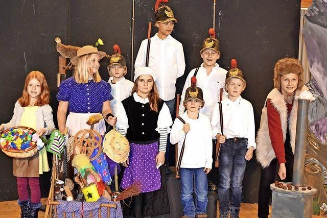 Mit der Jugendgruppe der Bühnenfreunde St. Johanne in Friedenweiler