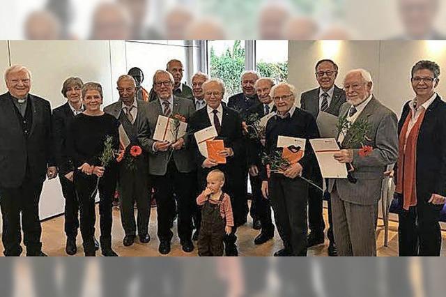 Kolpingfamilie ehrt Mitglieder für zusammen 990 Jahre Mitgliedschaft