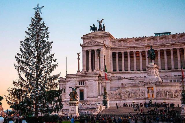 Italiens Hauptstadt erlebt ein Weihnachtsbaum-Debakel
