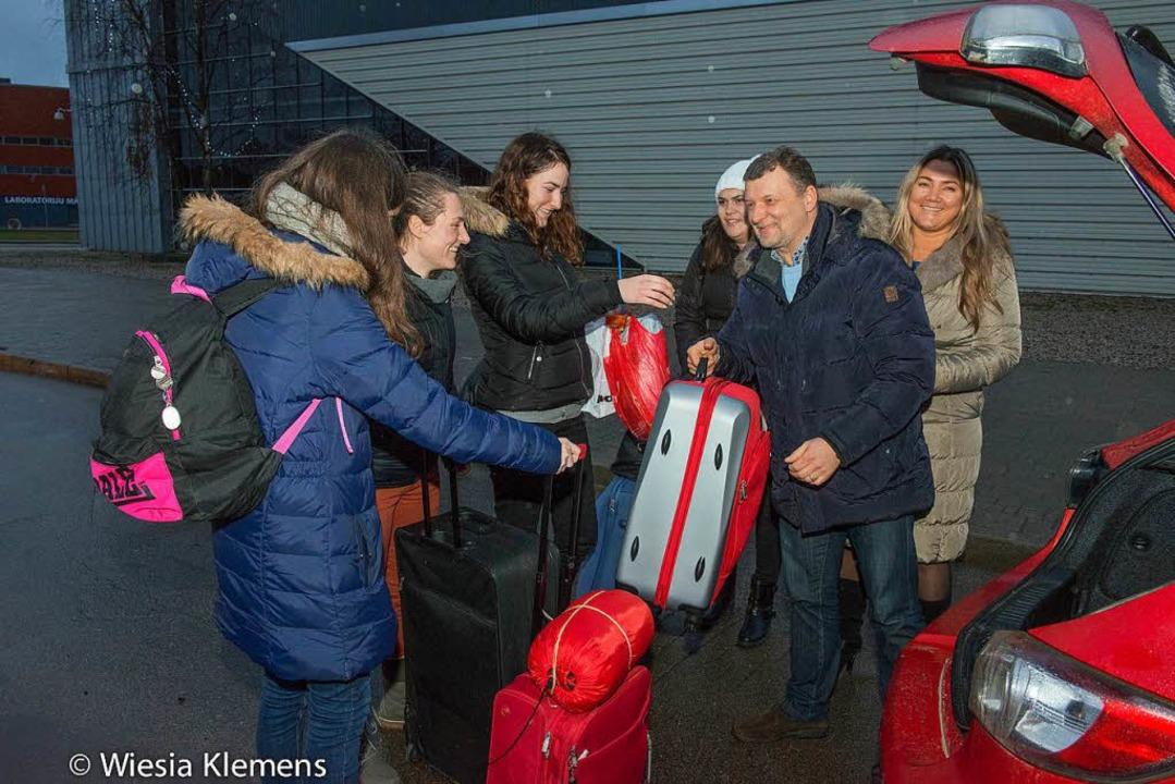 Am 28. Dezember werden 16000 jugendlic...nehmer von ihren Gastgebern empfangen.  | Foto: Wiesia Klemens