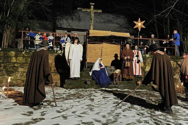 Traditionelles Christmettspiel auf dem Lorettoberg