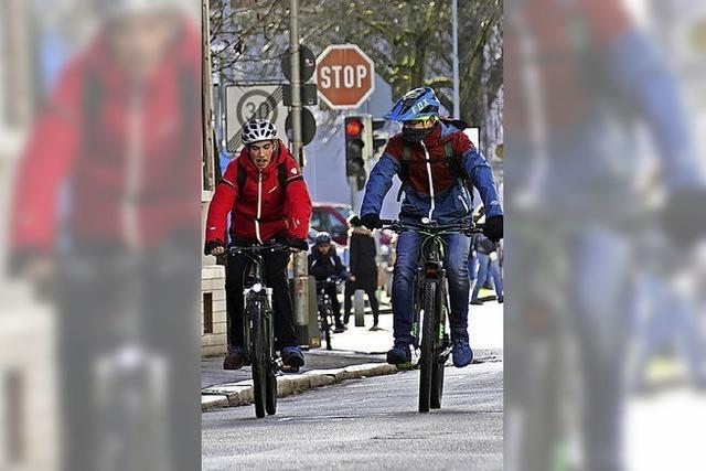 Stoppschild für die Fahrradstraße