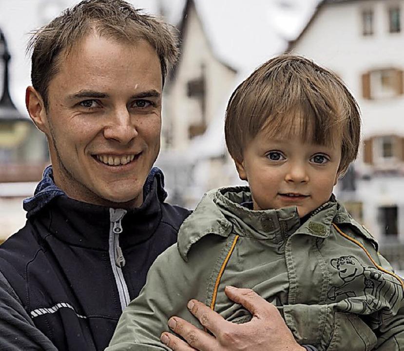 Johannes Till mit Sohn Julian  | Foto: Susanne Gilg