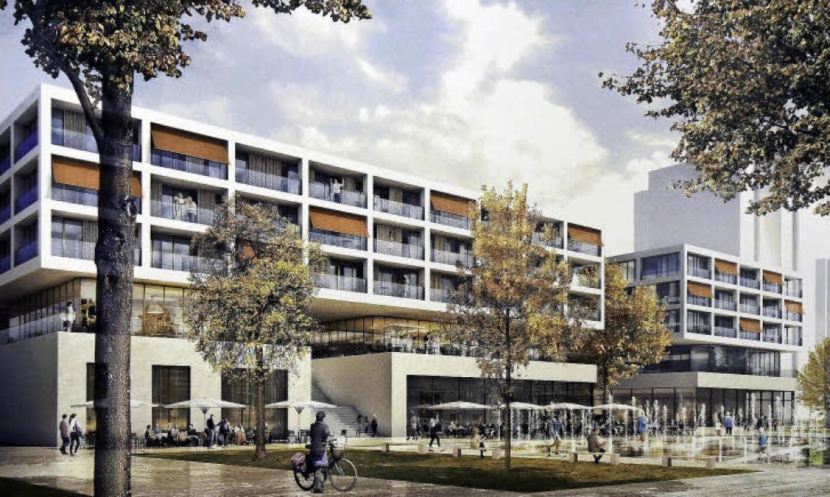 Fassade des neuen EKZ Landwasser am Platz der Begegnung  | Foto: fotos: Kunz/Wöhr & Heugenhauser