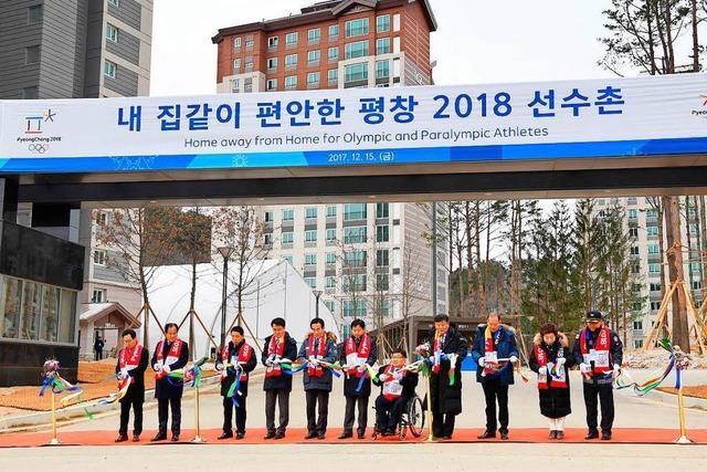Die olympischen Athletendörfer in Pyeongchang sind fertig